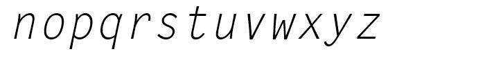 Letter Gothic L Regular Italic Font LOWERCASE