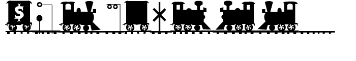 Letter Train Bold Font OTHER CHARS