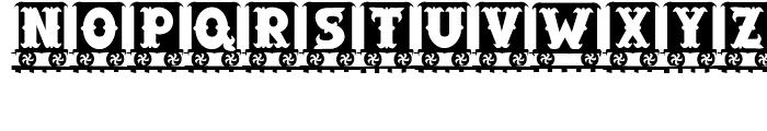 Letter Train Bold Font UPPERCASE