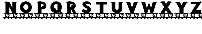 Letter Train Bold Font LOWERCASE