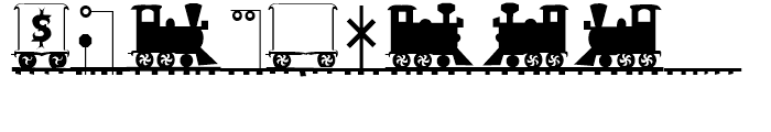 Letter Train Regular Font OTHER CHARS