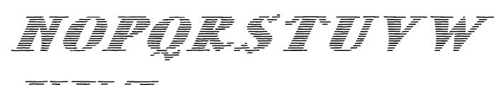 Letterstitch Light Oblique Font UPPERCASE