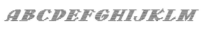 Letterstitch Light Oblique Font LOWERCASE