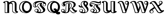Lexington Hand tooled Font UPPERCASE