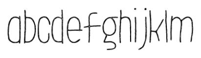 LeOsler Stamp Light Font LOWERCASE
