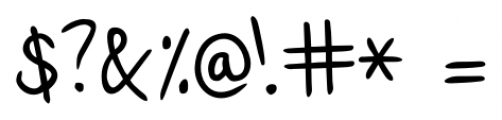 Lennart Handwriting Regular Font OTHER CHARS