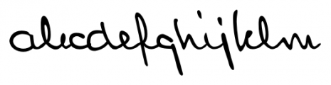 Lennart Handwriting Regular Font LOWERCASE