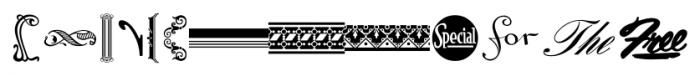 Letterpress Assortment JNL Regular Font UPPERCASE