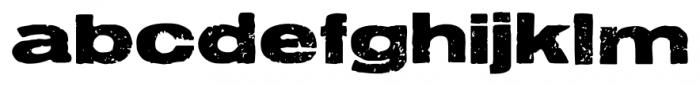Letterpress Aurora Font LOWERCASE