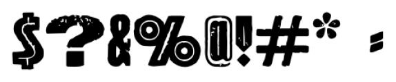Letterpress Bastard Font OTHER CHARS