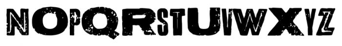 Letterpress Bastard Font UPPERCASE
