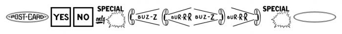 Letterpress Cuts JNL Regular Font OTHER CHARS
