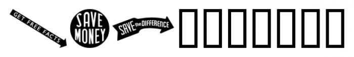 Letterpress Embellishments JNL Regular Font OTHER CHARS