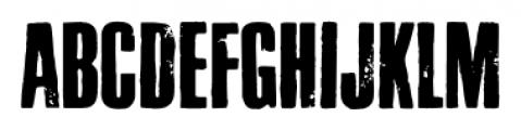 Letterpress Headline Font UPPERCASE
