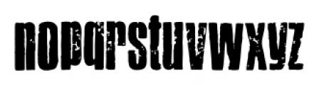 Letterpress Headline Font LOWERCASE