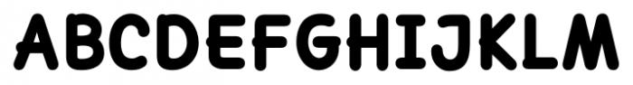 Lexie Readable Heavy Font UPPERCASE