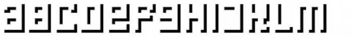 LECO 1976 Shadow Font LOWERCASE