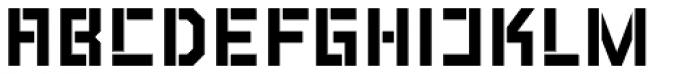 LECO 1976 Stencil Font UPPERCASE