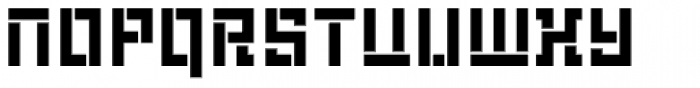 LECO 1976 Stencil Font LOWERCASE