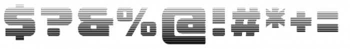 LECO 1988 Gradient Font OTHER CHARS