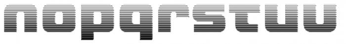 LECO 1988 Gradient Font LOWERCASE