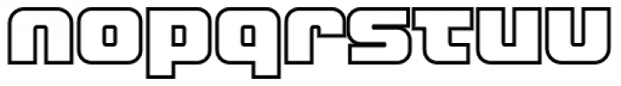 LECO 1988 Outline Font LOWERCASE