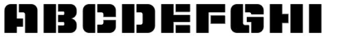 LECO 1988 Stencil Font UPPERCASE