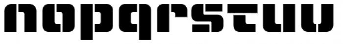 LECO 1988 Stencil Font LOWERCASE