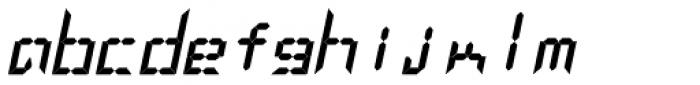 LEa D Lights Italic Font LOWERCASE