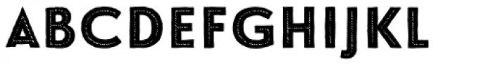Le Havre Hand Center Dot Reversed Font UPPERCASE