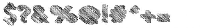 Le Havre Hand Extrude Crosshatch Font OTHER CHARS