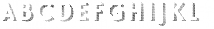 Le Havre Layers Shadow Diagonal Font UPPERCASE