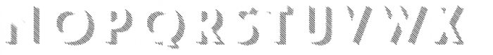 Le Havre Layers Shadow Diagonal Font LOWERCASE