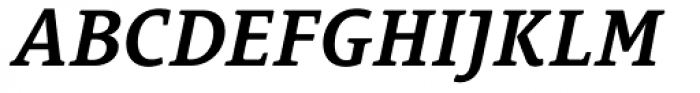 Le Monde Courrier Std ExtraDemi Italic Font UPPERCASE