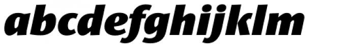 Le Monde Sans Std Black Italic Font LOWERCASE