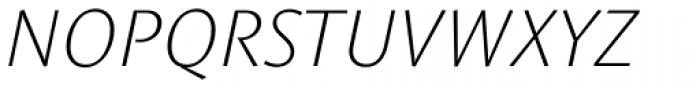 Le Monde Sans Std ExtraLight Italic Font UPPERCASE