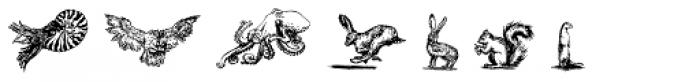LeBrush Extras Animals Font UPPERCASE