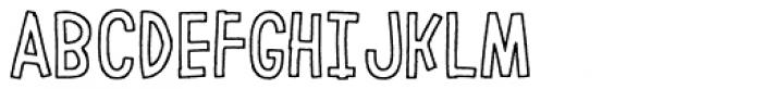 LeOsler Rough Border Regular Font UPPERCASE