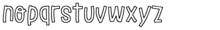 LeOsler Rough Border Regular Font LOWERCASE