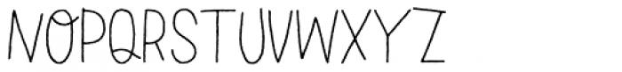 LeOsler Rough Light Font UPPERCASE