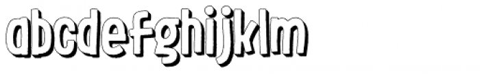 LeOsler Rough Shadow Regular Font LOWERCASE