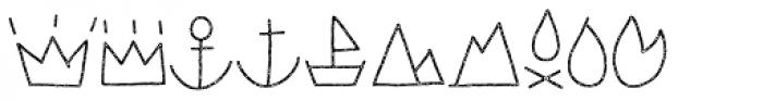 LeOsler Stamp Icon Light Font LOWERCASE