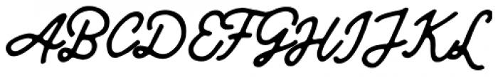 Leafstar Script Font UPPERCASE