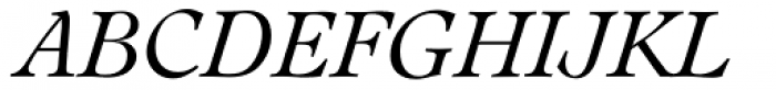 Leamington Serial Light Italic Font UPPERCASE