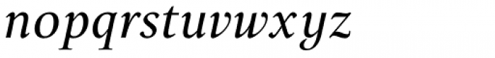 Lectio B Light Italic Font LOWERCASE