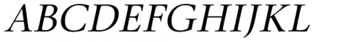 Lectio Light Italic Font UPPERCASE