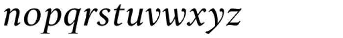 Lectio Light Italic Font LOWERCASE