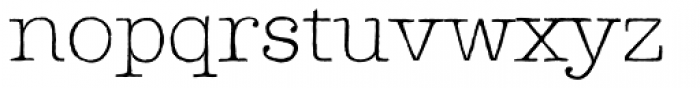 Lectra Thin Font LOWERCASE
