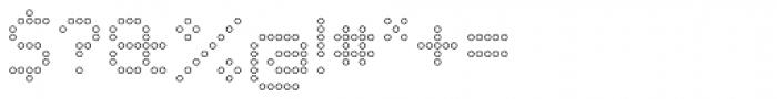 Led Outline Font OTHER CHARS