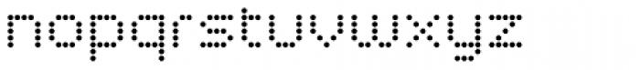 Led Regular Font LOWERCASE